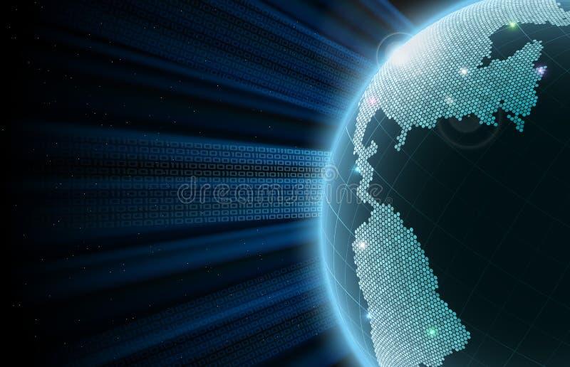 Terra Grandi dati fotografia stock