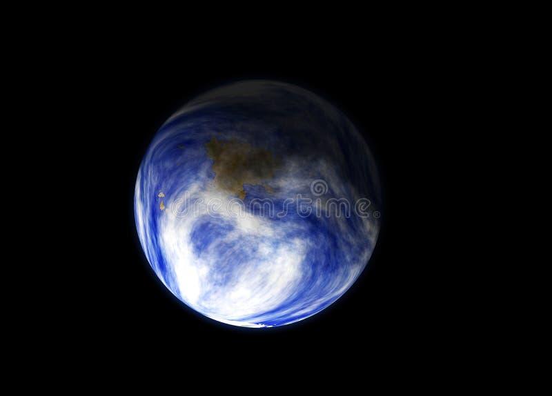 Terra guardando da spazio illustrazione vettoriale