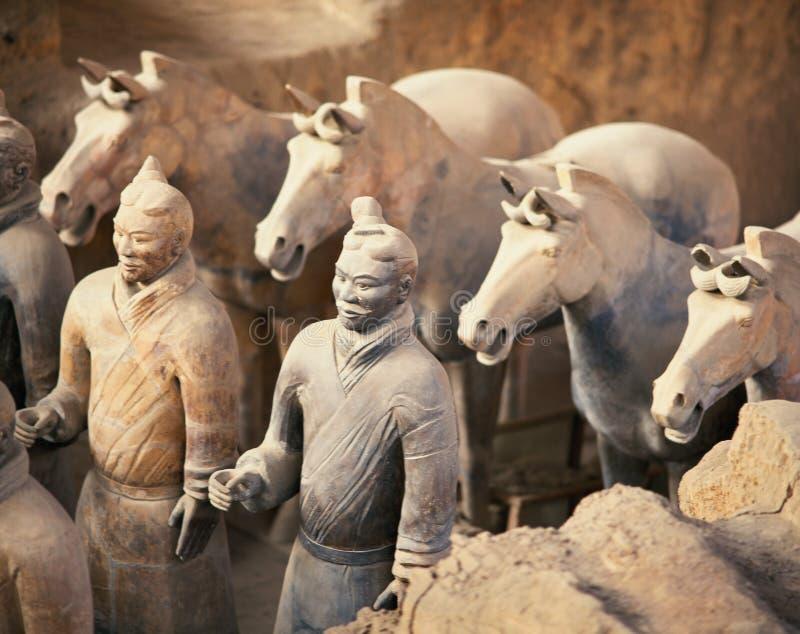 Terra - guerreiro do cotta da porcelana de shanxi fotos de stock