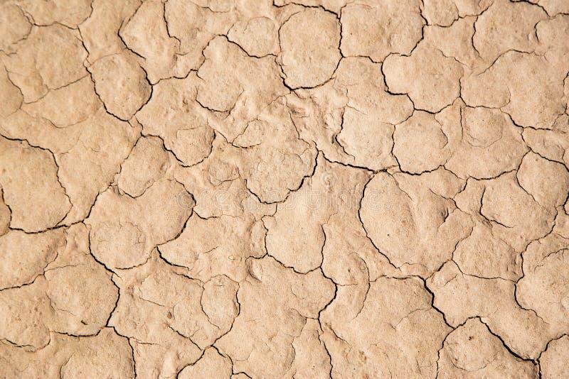 Terra incrinata nel deserto fotografia stock libera da diritti