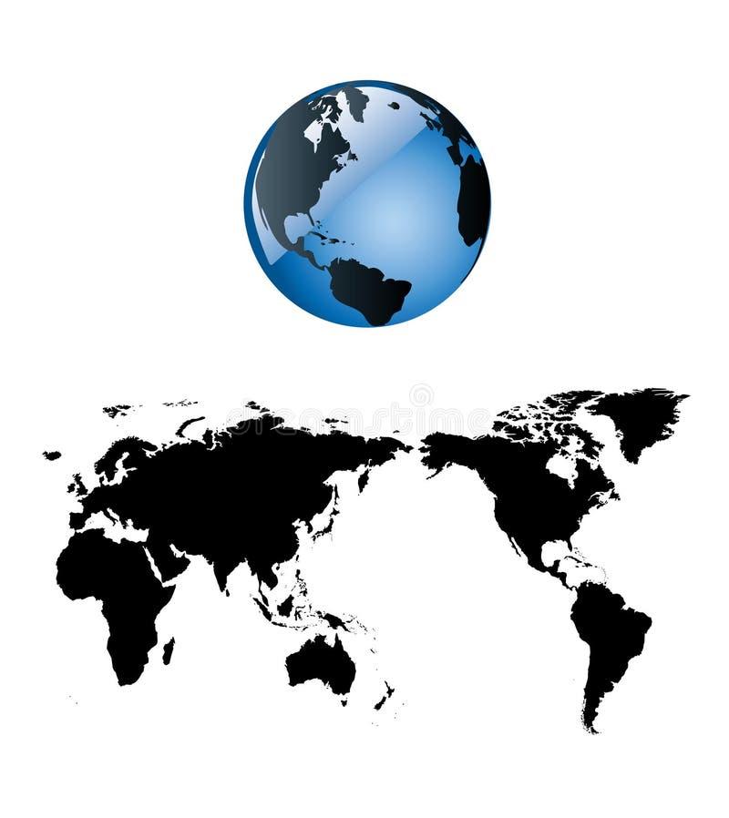 Terra lucida e un programma di mondo piano royalty illustrazione gratis