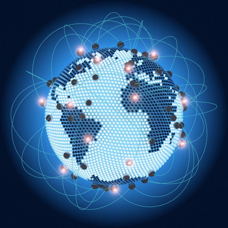 Terra moderna em um Web ilustração royalty free