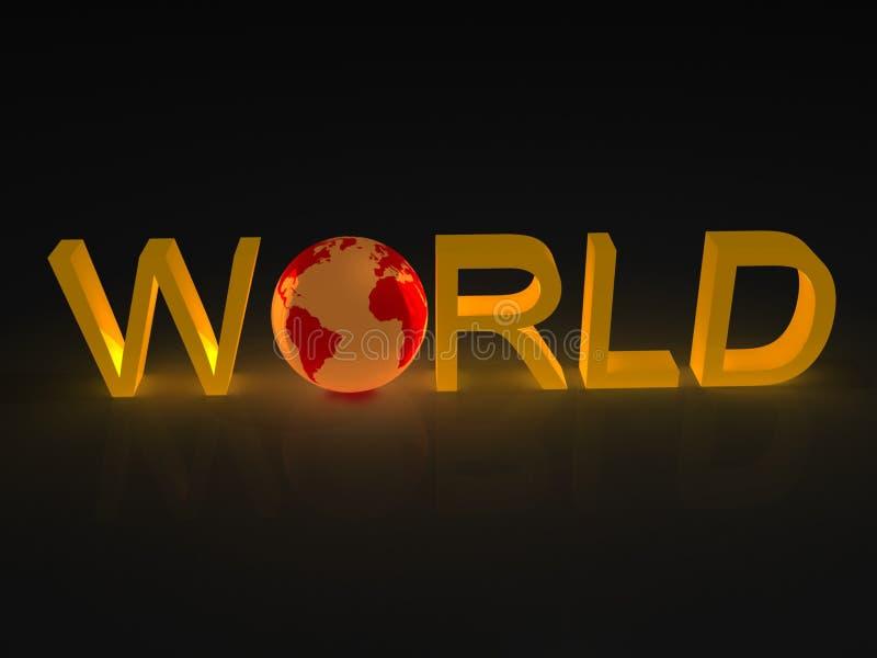 Terra in mondo di parola illustrazione vettoriale