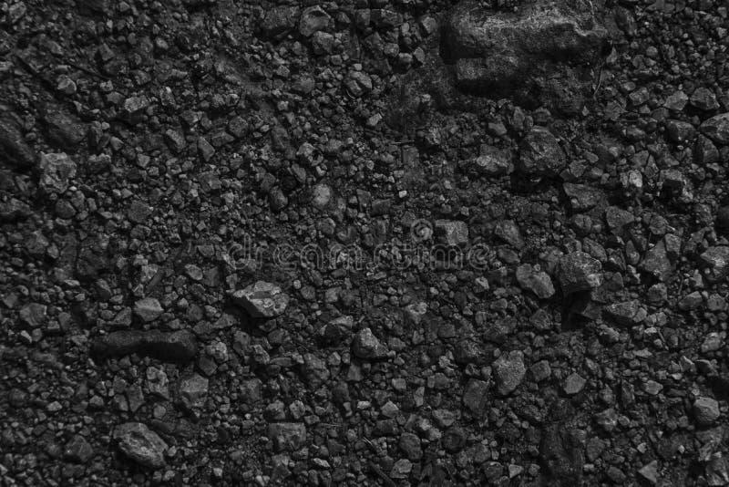 A terra monocromática gosta em Marte, textura da terra, superfície da areia, fundo de pedra imagens de stock