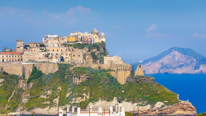 Terra Murata στο υψηλότερο σημείο του νησιού Procida, Νάπολη, Ιταλία στοκ εικόνες με δικαίωμα ελεύθερης χρήσης