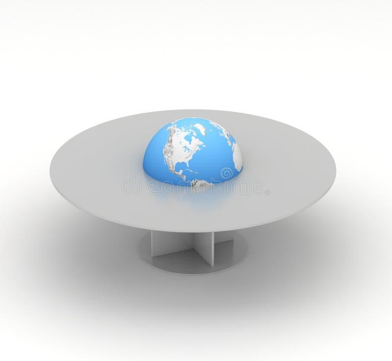 Terra nel centro della tabella royalty illustrazione gratis