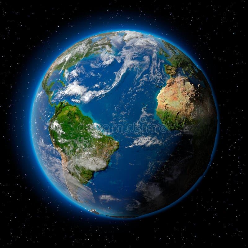 Terra nello spazio illustrazione vettoriale