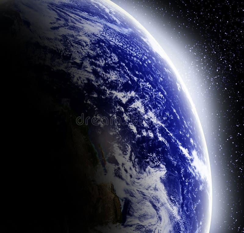 Terra no espaço ilustração stock