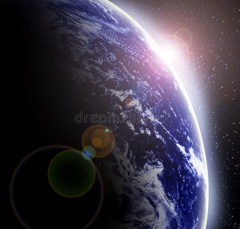 Terra no espaço ilustração royalty free