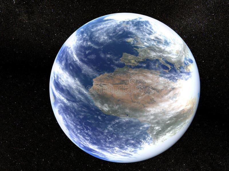 Terra no universo ilustração do vetor