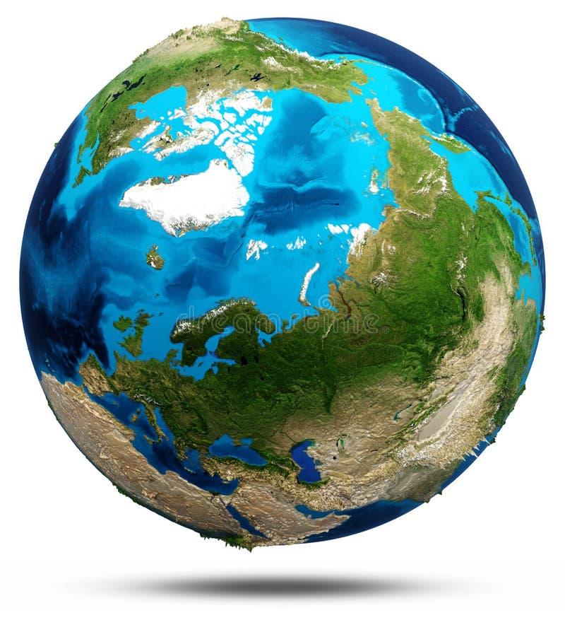 Terra - norte ilustração royalty free