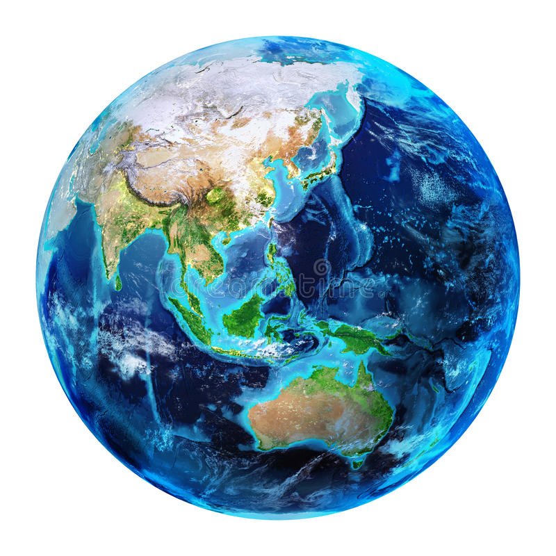 Terra orientale - 3d rendono royalty illustrazione gratis