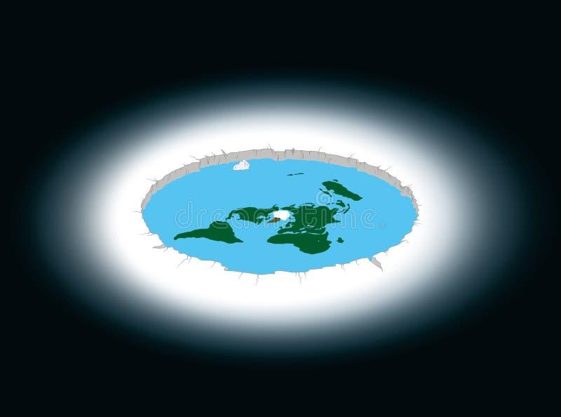 Terra piana circondata dall'Antartide Illustrazione illustrazione di stock