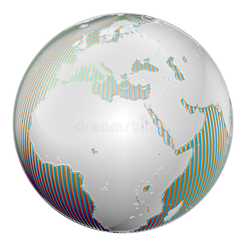 Terra plástica ilustração royalty free