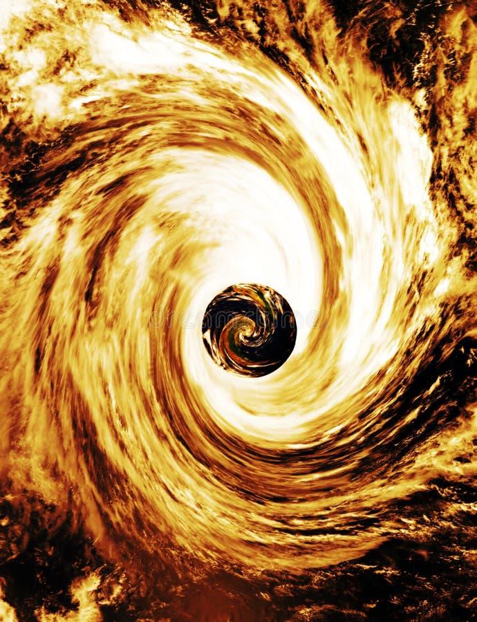A terra puxou no buraco negro Supermassive ilustração royalty free