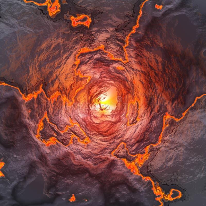 Terra quente da lava ilustração stock
