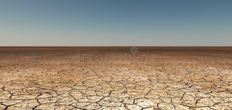 Terra rachada seca ilustração stock