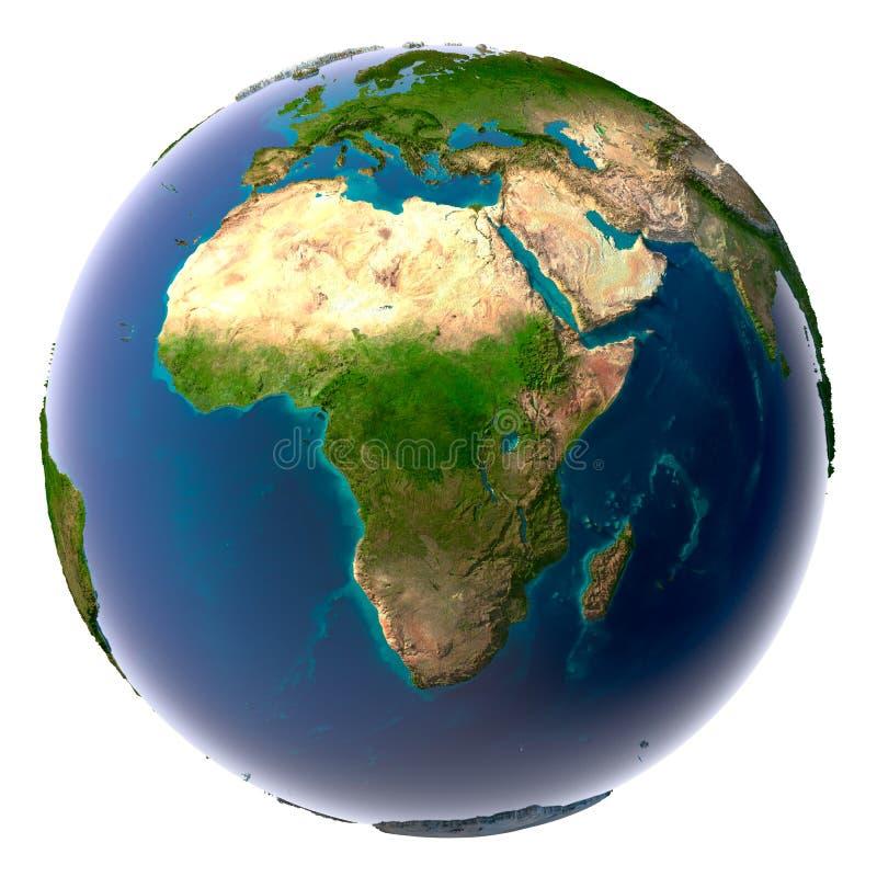 Terra realística do planeta com natural imagem de stock