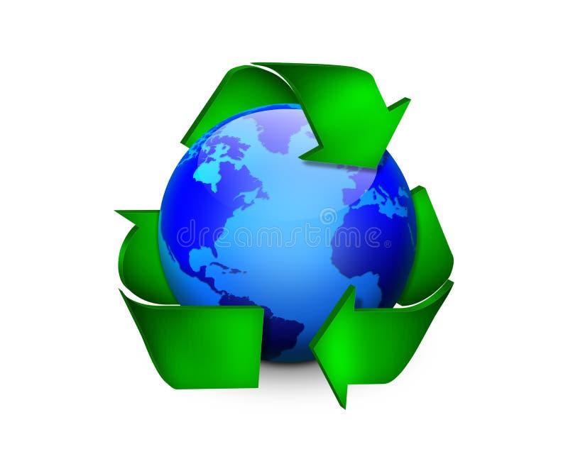 Terra Recyclable ilustração royalty free