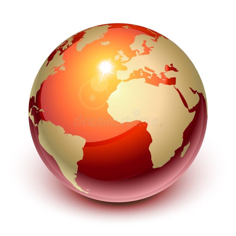 Terra rossa illustrazione vettoriale