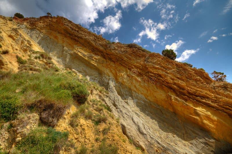Terra Rossa em um penhasco foto de stock royalty free