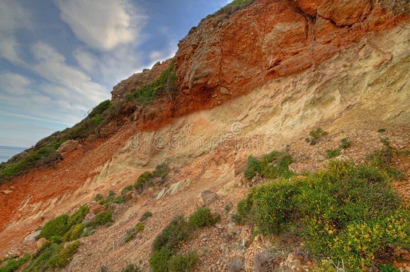 Terra Rossa em um penhasco fotografia de stock royalty free