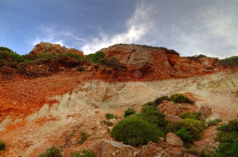 Terra Rossa em um penhasco imagens de stock