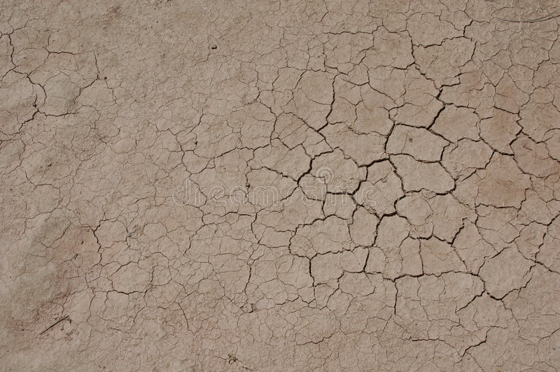 Terra secada rachada fotografia de stock royalty free