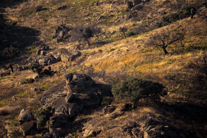 Terra Selvagem dos Escavenger, Miranda do Douro, Montanhas Tras-os-Montes foto de stock