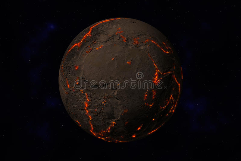 Terra sem água e plantas ilustração do vetor