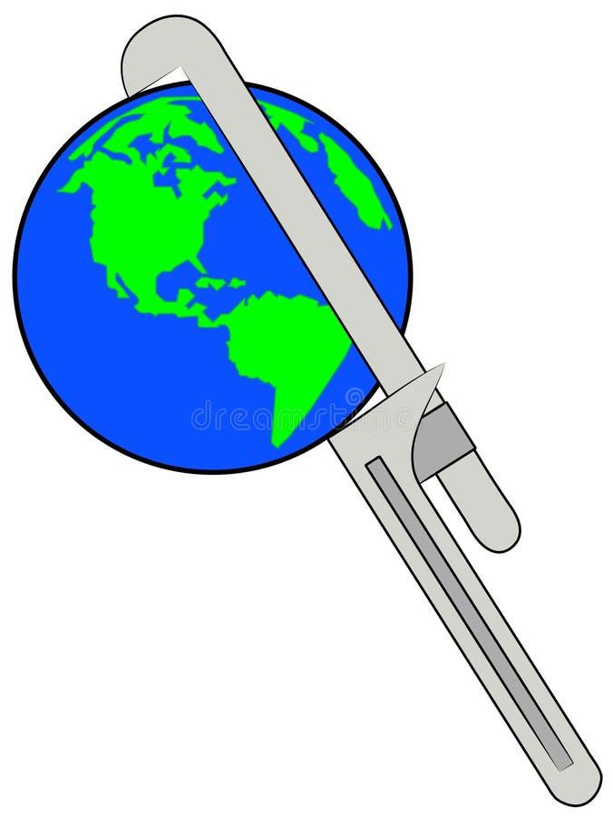 Terra sob a pressão ilustração royalty free