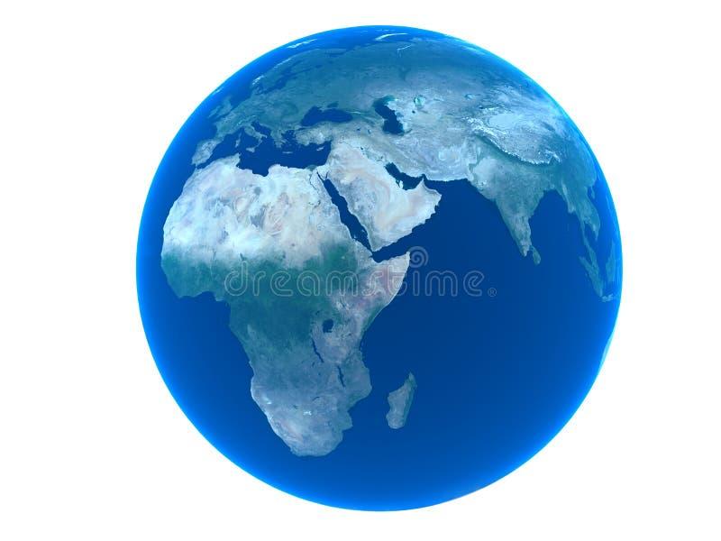 Terra sobre o fundo branco ilustração royalty free
