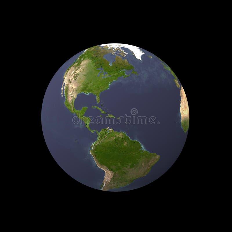 Terra su priorità bassa nera illustrazione di stock