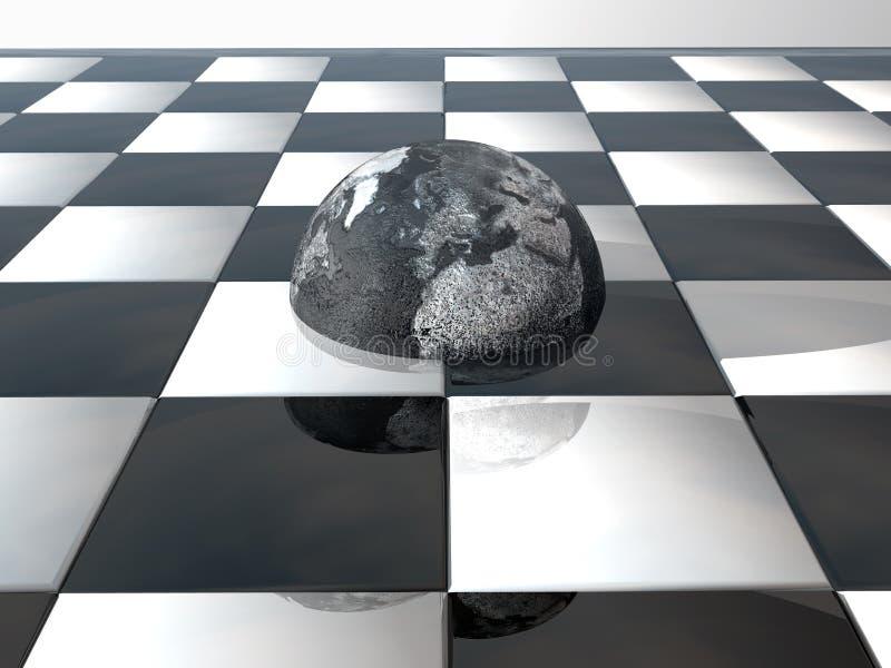 Terra sulla scheda di scacchi illustrazione vettoriale