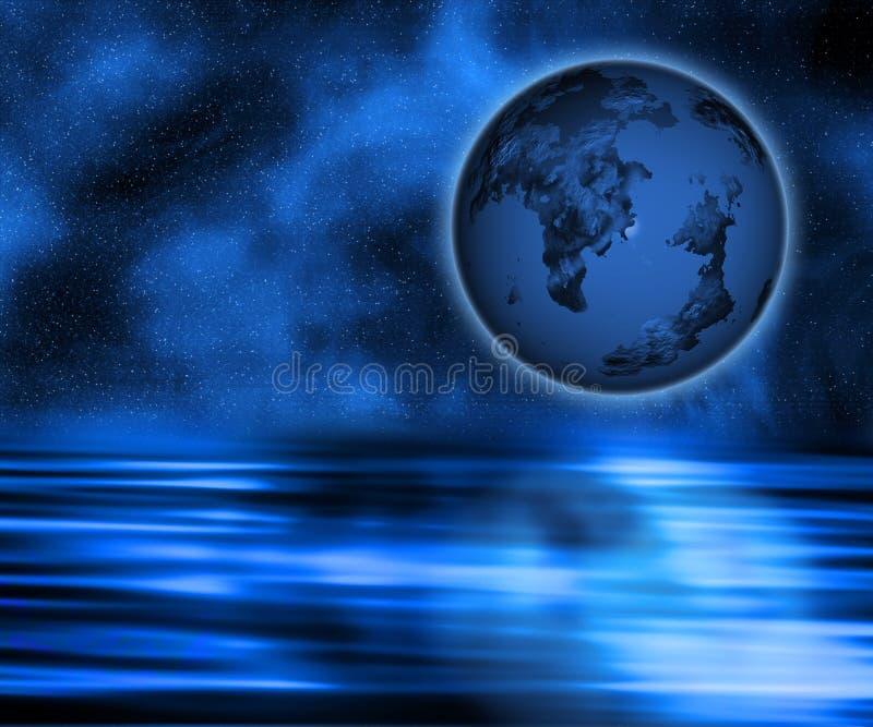 Terra surreal ilustração do vetor
