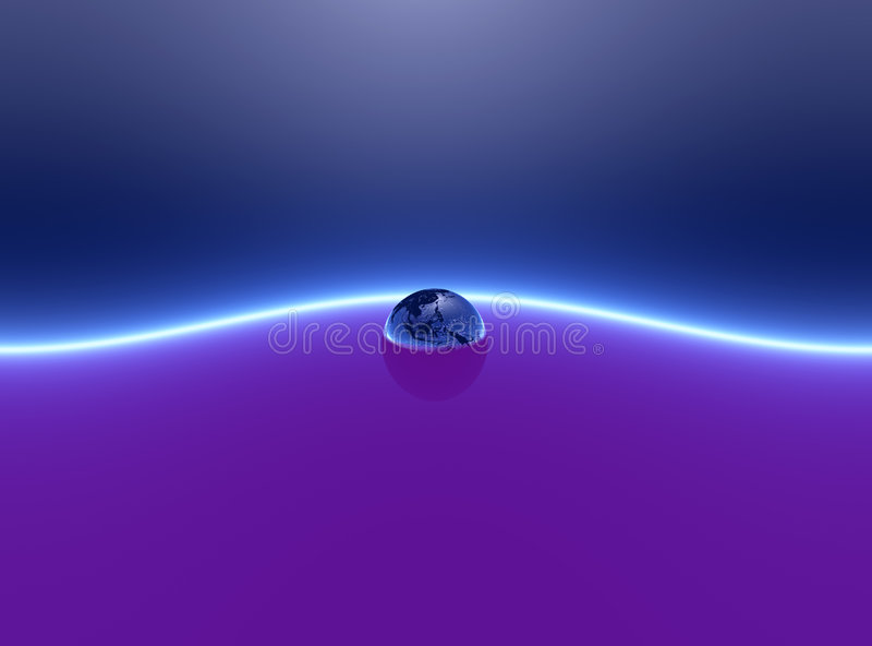 Terra surreale illustrazione vettoriale