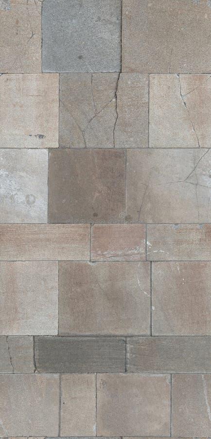 A terra telhou o pavimento de pedra textura difusa sem emenda para o material 3d varredura imagem de stock royalty free