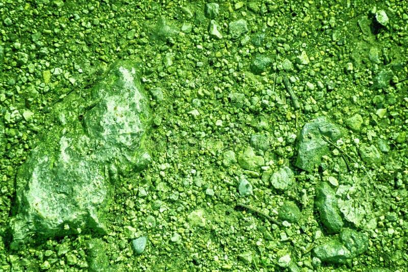 A terra ultra verde gosta em Marte, textura da terra, superfície da areia, fundo de pedra imagem de stock