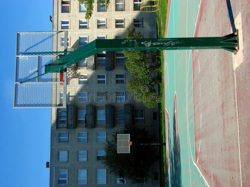 Terra urbana di pallacanestro immagini stock
