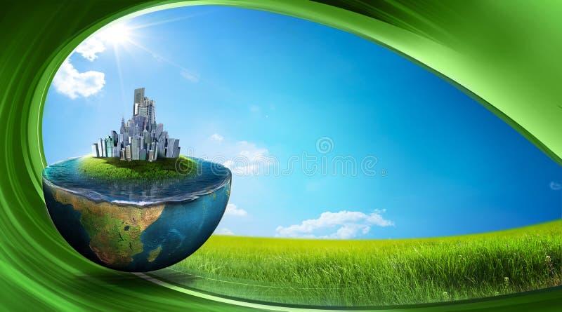Terra verde ilustração royalty free