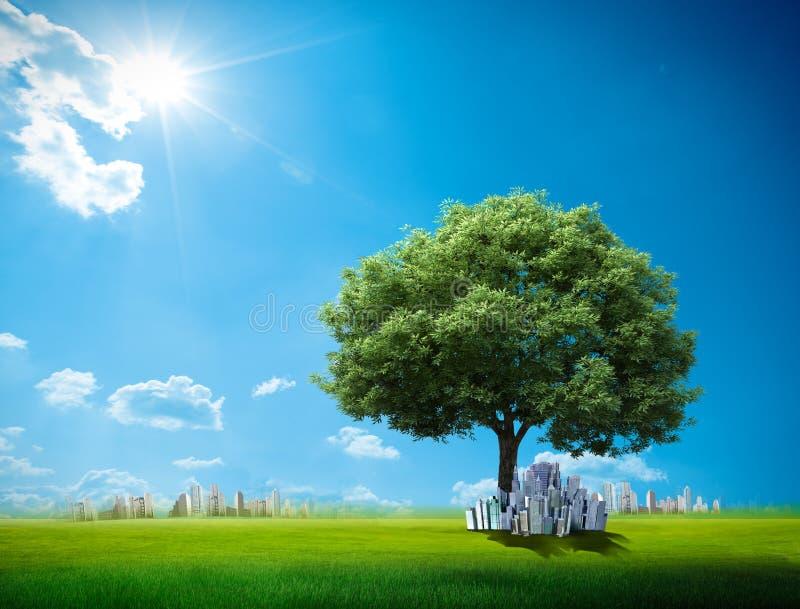 Terra verde ilustração do vetor