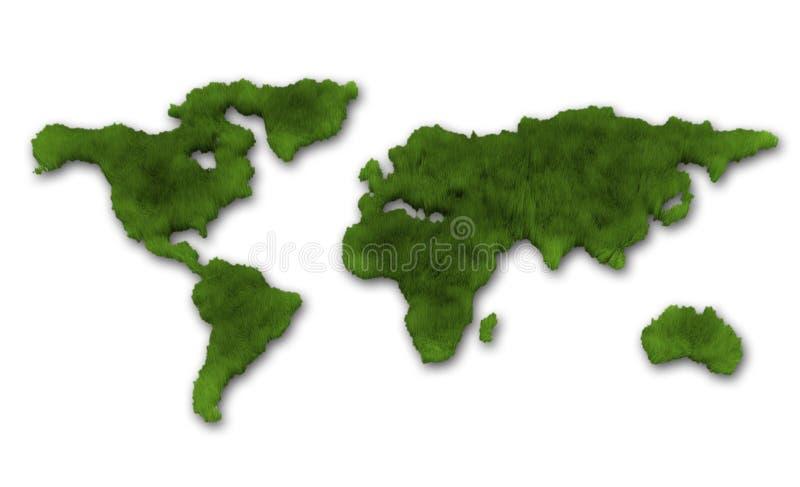 Terra verde ilustração stock