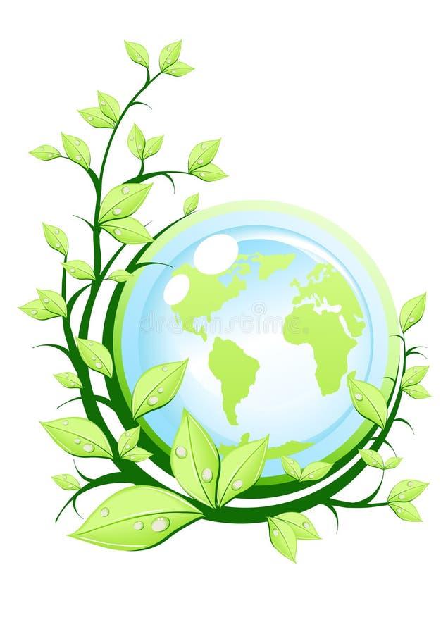 Download Terra verde com planta ilustração stock. Ilustração de saúde - 12800772