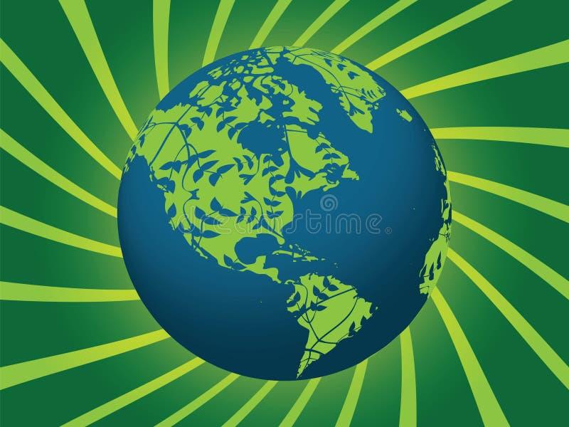 Terra verde de Eco imagem de stock