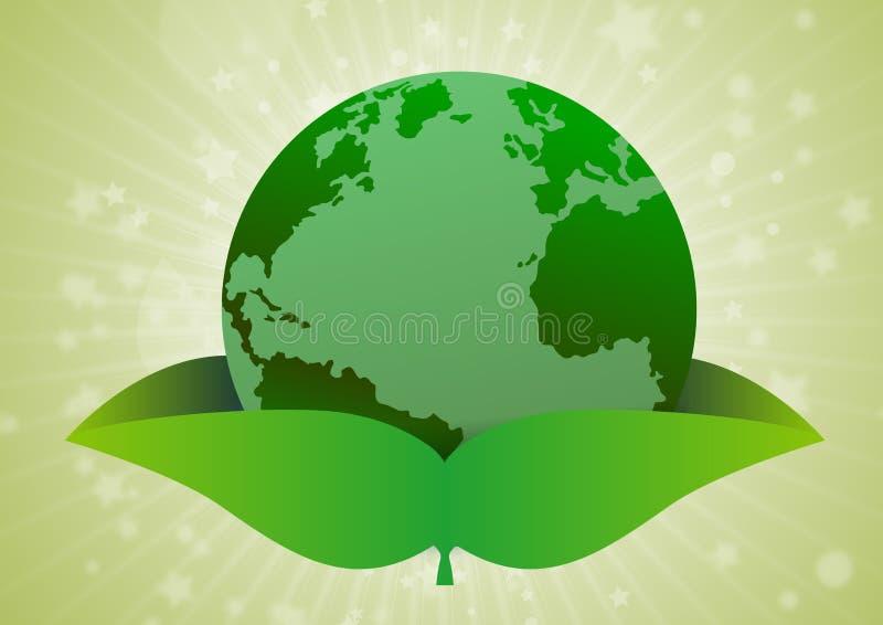Terra verde di concetto dell'ambiente illustrazione di stock