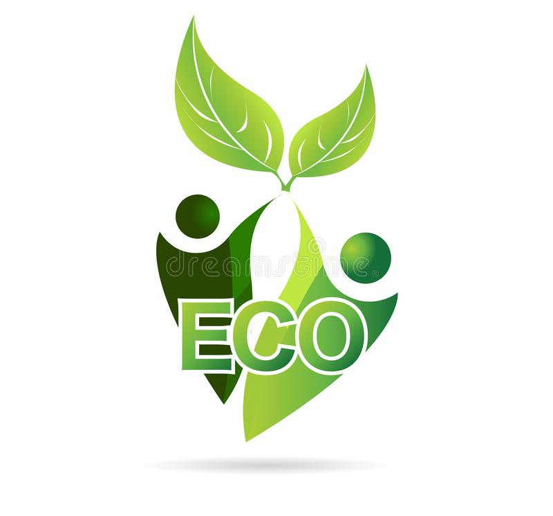 Terra verde e o ambiente, mãe Natureza, vetor do ícone do eco ilustração royalty free
