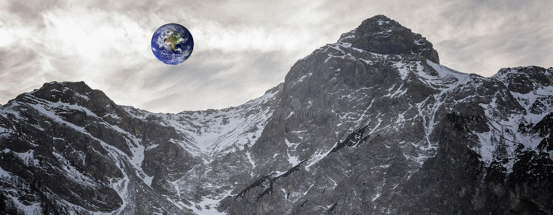 Terra vista do asteroide fotografia de stock