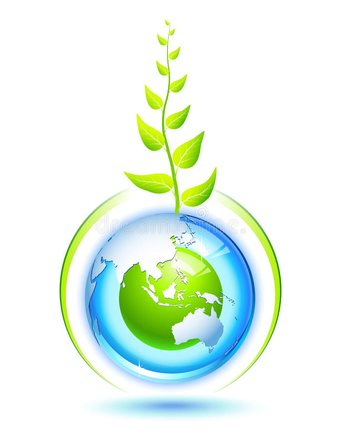 Terra viva ilustração stock