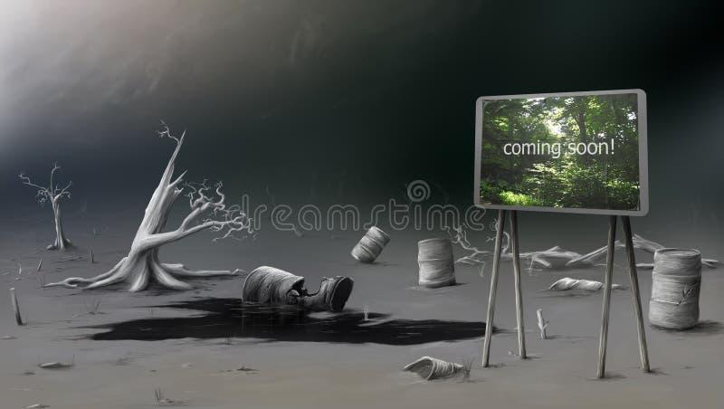Terra Waste ilustração royalty free