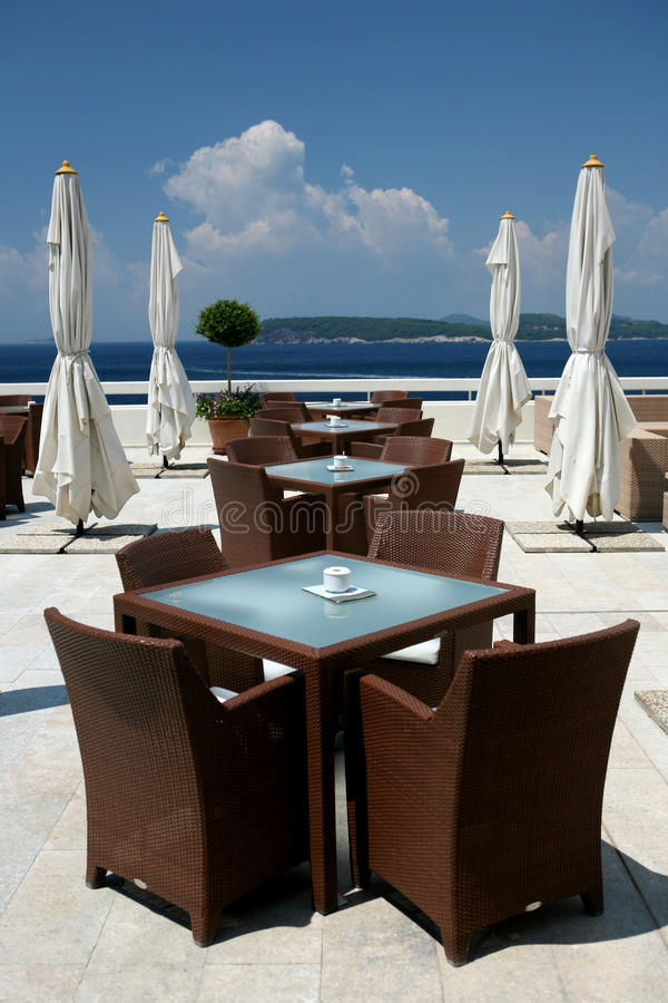 Download On the terrace stock photo. Image of parasol, table, balcony - 11317324